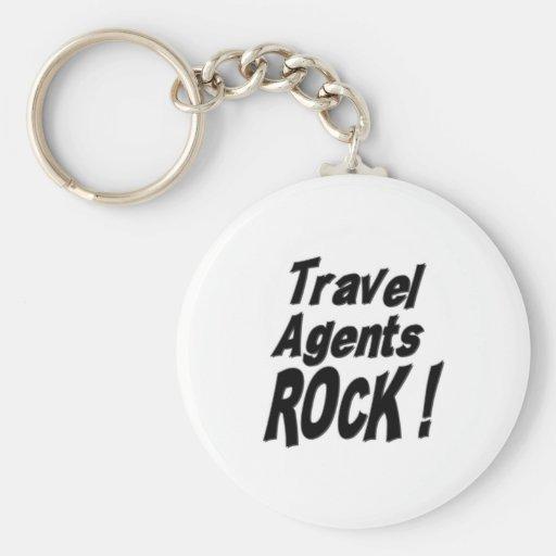 Travel Agents Rock! Keychain