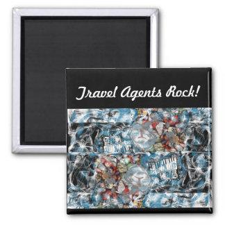 Travel Agents Rock Magnet