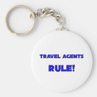 Travel Agents Rule! Basic Round Button Key Ring