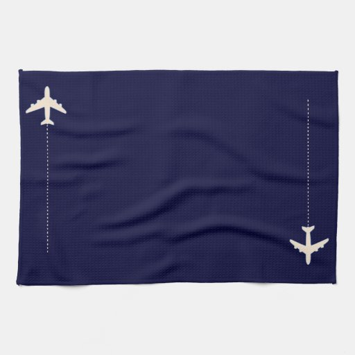 travel airplane with dotted line kitchen towel