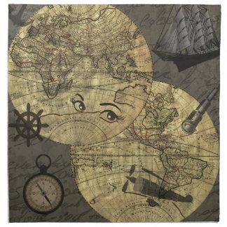 Travel around the world napkin