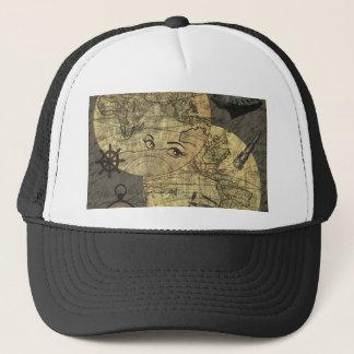 Travel around the world trucker hat