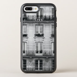 Travel | Black and White Vintage Building In Paris OtterBox Symmetry iPhone 8 Plus/7 Plus Case