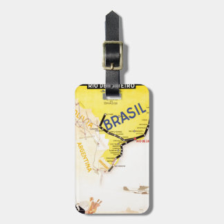 Travel Brasil Brazil By Airplane Luggage Tag