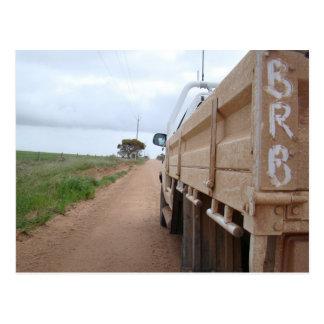 Travel BRB gravel track landscape sky ute Postcard