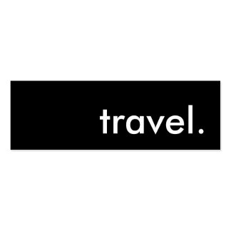 travel. business card