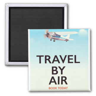 Travel By Air travel poster Magnet