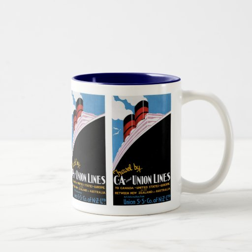 Travel by CA and Union Lines Coffee Mugs