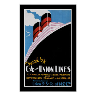 Travel by CA and Union Lines Print