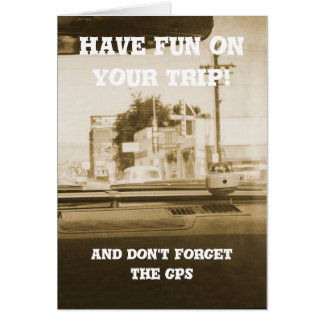 Travel by Car Road Trip Vintage Photo Have Fun Card