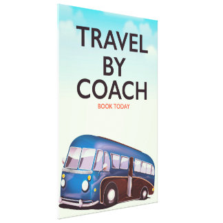 Travel By coach British travel poster Canvas Print