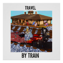 Travel By Train Posters