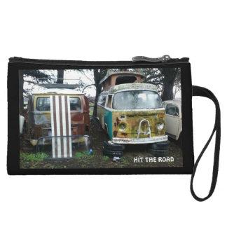 Travel clutch purse wristlet purses
