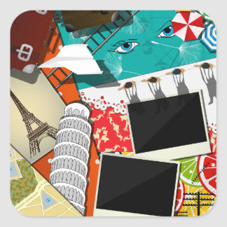 Travel Collage Stickers