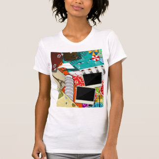 Travel Collage Womens T-Shirt
