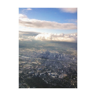 travel collection. Frankfurt, Germany from air Canvas Print