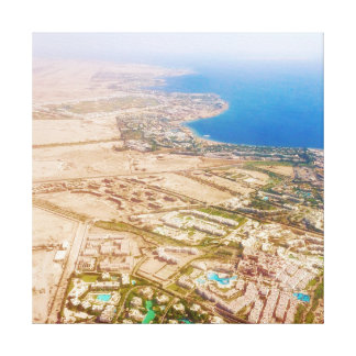travel collection. Sharm el Sheich, Egypt from air Canvas Print