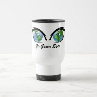 Travel Commuter Mug Go Green Eyes