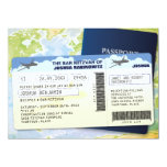 Travel Documents Bar or Bat Mitzvah Custom Invite