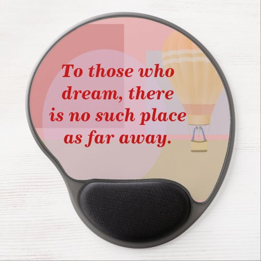 Travel -dreamers -mouse pad gel mouse pad