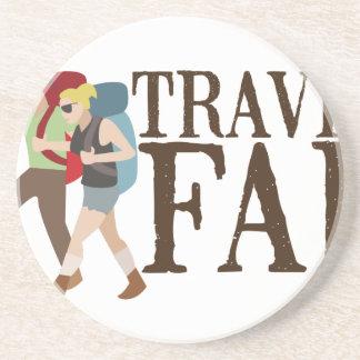 Travel Far Beverage Coaster