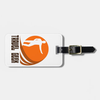 travel geek luggage tag