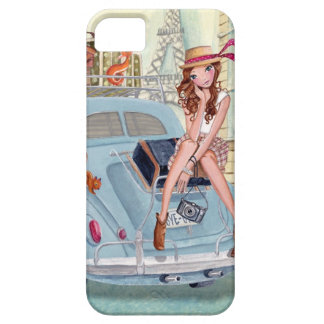 Travel girl in Paris - Iphone case