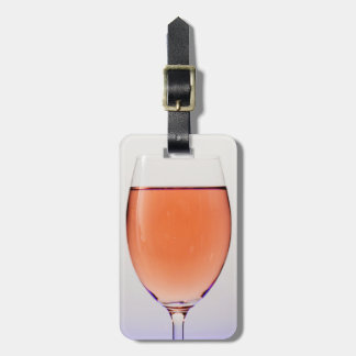 Travel Glass of Wine Luggage Tag