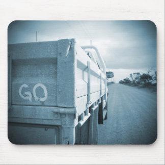 Travel go blue landscape dirt road sky ute mouse pad