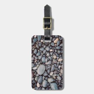Travel Gray Rock Pebbles Luggage Tag