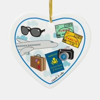 Travel Heart Ornament
