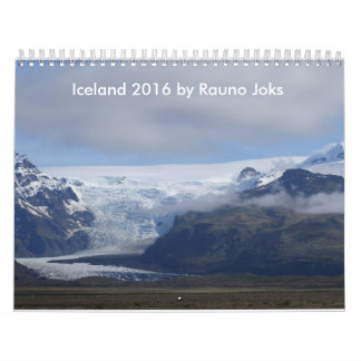 Travel Iceland 2016 Calendar by Rauno Joks