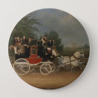 Travel in England, 1835. 10 Cm Round Badge
