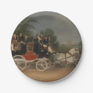 Travel in England, 1835. 7 Inch Paper Plate