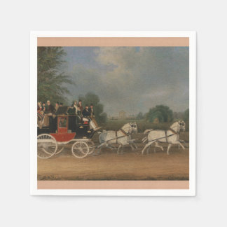 Travel in England, 1835. Disposable Serviettes