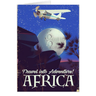 Travel Into Adventure! Africa Card