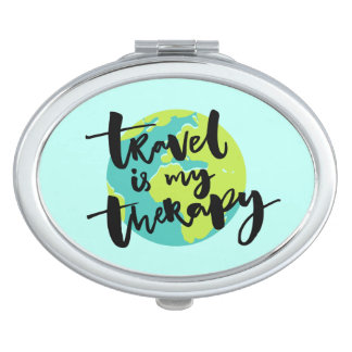 Travel is my Therapy Compact Mirror