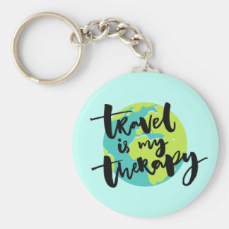 Travel is my Therapy Key Ring