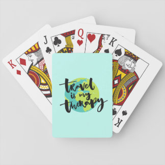 Travel is my Therapy Playing Cards