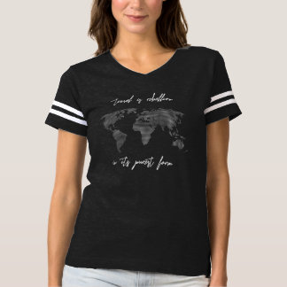 Travel is Rebellion World Map Women's T-shirt