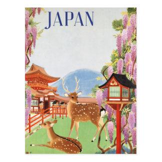 Travel Japan by Train Vintage Postcard