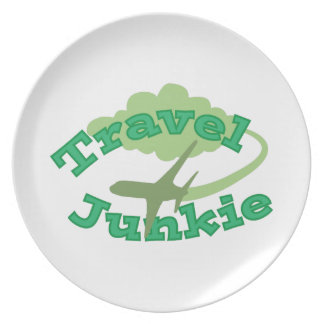 Travel Junkie Party Plates