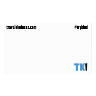 Travel Kindness Calling Card Pack Of Standard Business Cards
