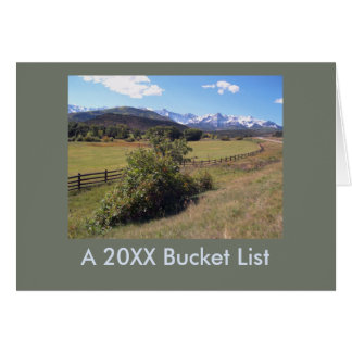 Travel Landscape Photo New Year Bucket List Card