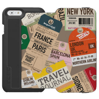 Travel Locations Pattern Incipio Watson™ iPhone 6 Wallet Case