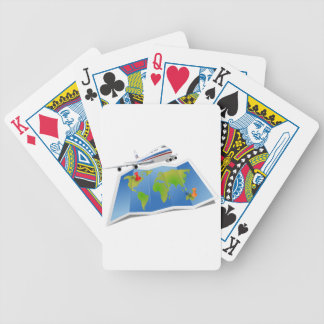 Travel Map Bicycle Playing Cards