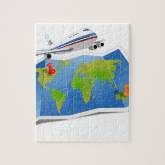 Travel Map Jigsaw Puzzle
