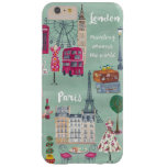 Travel map London Paris | Iphone 6 plus Case Barely There iPhone 6 Plus Case