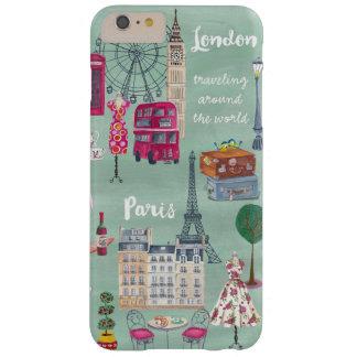 Travel map London Paris | Iphone 6 plus Case