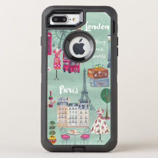 Travel map London Paris | Otterbox | Iphone